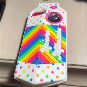 A rainbow colored case and fits the iPhone 6/7/8